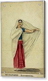 Musulmanee Dancing-girl Acrylic Print by British Library