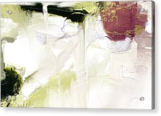 Muted Clay White Acrylic Print