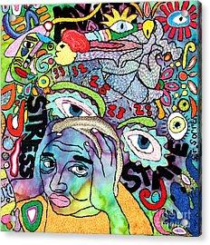 My Aching Head Acrylic Print by Susan Sorrell