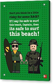 My Apocalypse Now Lego Dialogue Poster Acrylic Print by Chungkong Art