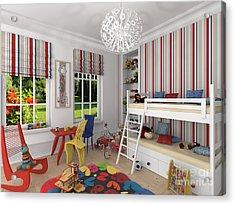 My Art In The Interior Decoration -venetian Jester In The Children's Room-  Elena Yakubovich Acrylic Print