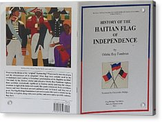 My Artwork The Making Of The Haitian Flag In Publication Acrylic Print