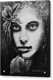Acrylic Print featuring the drawing My Beautiful Belladonna by Carla Carson