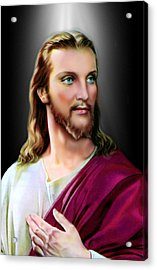 My Beautiful Jesus 2 Acrylic Print by Karen Showell