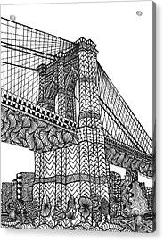 My Beloved Brooklyn Bridge Acrylic Print