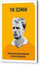 My Bergkamp Soccer Legend Poster Acrylic Print