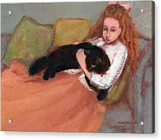 My Black Cat Acrylic Print by J Reifsnyder