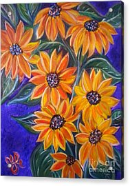 My Black-eye Susans Acrylic Print