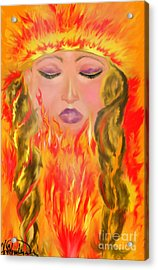My Burning Within Acrylic Print by Lori  Lovetere