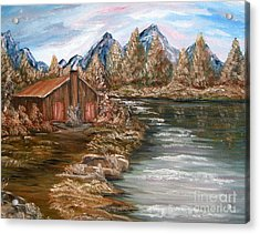 My Cabin By The Lake Acrylic Print