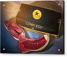 My Chucks - Pink Converse Chuck Taylor All Star - Still Life Painting - Ai P. Nilson Acrylic Print