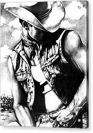 My Cowboy Man Acrylic Print by RjFxx at beautifullart com