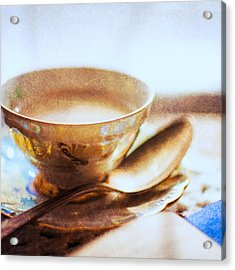 My Cup Of Tea Square Acrylic Print by Jon Woodhams