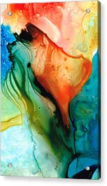 My Cup Runneth Over - Abstract Art By Sharon Cummings Acrylic Print by Sharon Cummings
