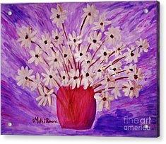 My Daisies Acrylic Print by Ramona Matei