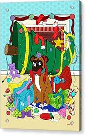 My Dog Ate Christmas Acrylic Print by Shawna Rowe