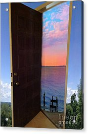 My Door To Success Acrylic Print by Becky Lupe