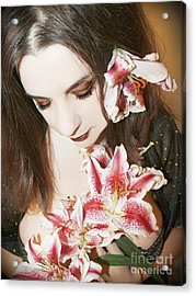 Acrylic Print featuring the photograph My Dreams In Bloom by Heather King