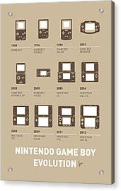 My Evolution Nintendo Game Boy Minimal Poster Acrylic Print by Chungkong Art
