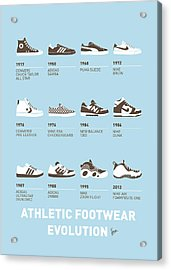 My Evolution Sneaker Minimal Poster Acrylic Print