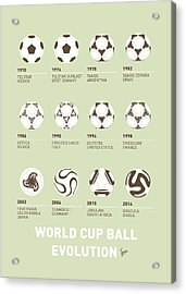 My Evolution Soccer Ball Minimal Poster Acrylic Print by Chungkong Art