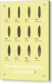 My Evolution Surfboards Minimal Poster Acrylic Print by Chungkong Art