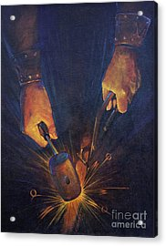 My Fathers Hands Acrylic Print by Rob Corsetti