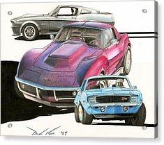 My Favorite Three Acrylic Print by Paul Kim