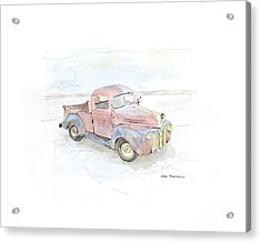 My Favorite Truck Acrylic Print by Joan Sharron