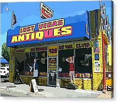 My Favorite Vegas Antique Store Acrylic Print by John Malone