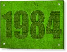 My Favorite Year 1984 Word Art On Canvas Acrylic Print