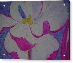 My Flower Acrylic Print by Yvette Pichette