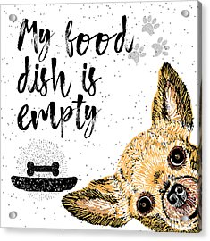 My Food Dish Is Empty. Vector Acrylic Print