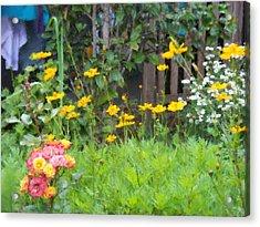 My Garden Acrylic Print by Gabriel Mackievicz Telles