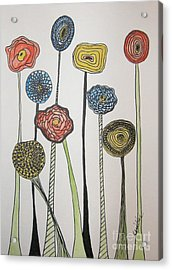 My Garden Acrylic Print by Marcia Weller-Wenbert