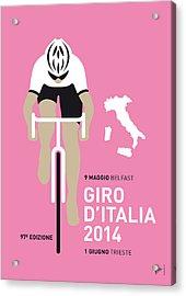 My Giro D Italia Minimal Poster 2014 Acrylic Print by Chungkong Art