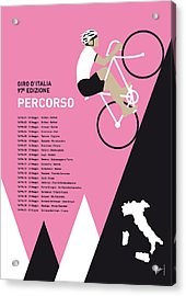My Giro D Italia Minimal Poster 2014-percoso Acrylic Print