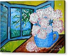 My Grandma S Flowers   Acrylic Print by Ramona Matei