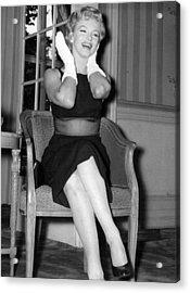 Bashful Marilyn Monroe Acrylic Print by Retro Images Archive