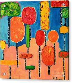 My Happy Trees 2 Acrylic Print by Ana Maria Edulescu