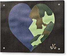 My Heart Acrylic Print by Jessica Cruz