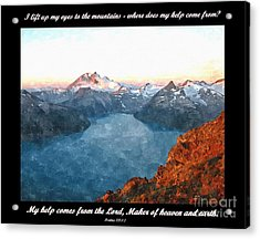 My Help Comes From The Lord Acrylic Print