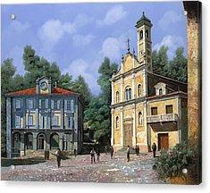 My Home Village Acrylic Print by Guido Borelli
