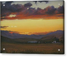 My Home's In Montana Acrylic Print by Mia DeLode