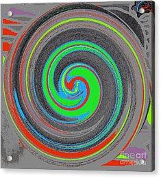 Acrylic Print featuring the digital art My Hurricane by Catherine Lott