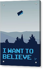 My I Want To Believe Minimal Poster- Tardis Acrylic Print