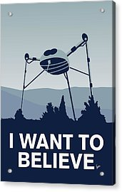 My I Want To Believe Minimal Poster-war-of-the-worlds Acrylic Print