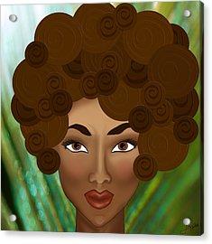 Acrylic Print featuring the photograph My Inner Nubian Goddess by Lisa Knechtel