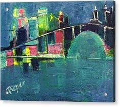 My Kind Of City Acrylic Print by Betty Pieper