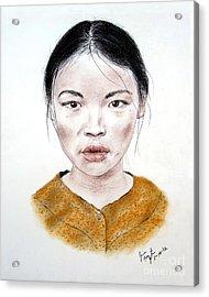 My Kuiama A Young Vietnamese Girl  Acrylic Print by Jim Fitzpatrick
